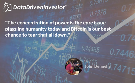 The concentration of power is the core issue plaguing humanity today and Bitcoin is our best chance to tear that all down.